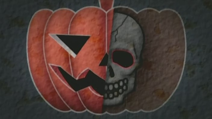 Pumpkin scissors flag